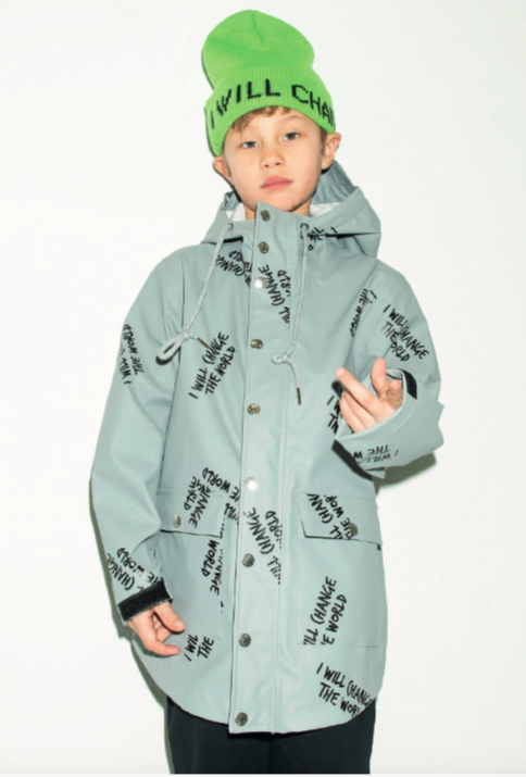 boy wearing winter jacket